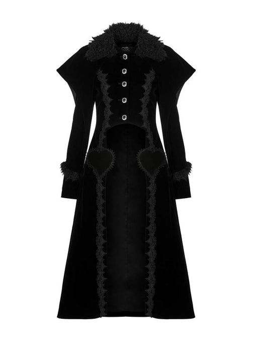 Pyon Pyon Queen Of Hearts Velvet Coat - Kate's Clothing
