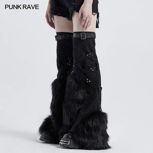 Punk Rave Raven Leg Warmers - Kate's Clothing