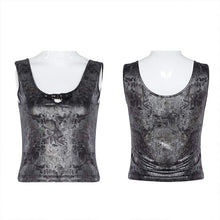 Load image into Gallery viewer, Punk Rave Ripple Vest Top - Kate's Clothing