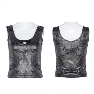 Punk Rave Ripple Vest Top - Kate's Clothing