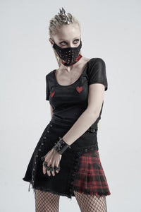 Punk Rave Skull Wrist Cuff With Finger Cuffs - Kate's Clothing