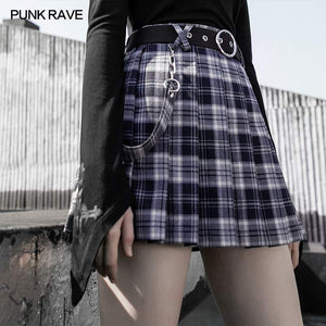 Punk Rave Storm Tartan Mini Skirt - Kate's Clothing