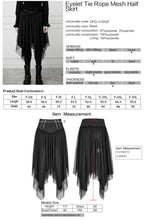 Load image into Gallery viewer, Punk Rave Plus Size Alani Mesh Skirt - Kate's Clothing