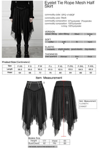 Punk Rave Plus Size Alani Mesh Skirt - Kate's Clothing