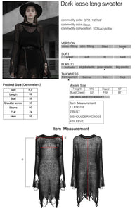 Punk Rave Rosaline Long Sweater - Kate's Clothing
