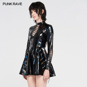 Punk Rave Tyra Skater Dress - Black - Kate's Clothing