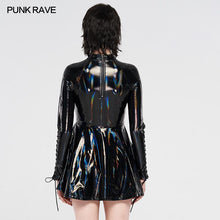 Load image into Gallery viewer, Punk Rave Tyra Skater Dress - Black - Kate's Clothing