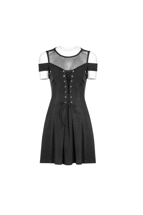 Punk Rave Plus Size Lace Up Skater Dress - Kate's Clothing