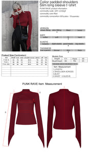 Punk Rave Aziza Long Sleeve Top - Red - Kate's Clothing