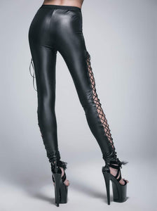Devil Fashion Lace-up Leggings - Kate's Clothing