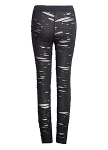 Punk Rave Black Gothalyptic Lara Leggings - Kate's Clothing
