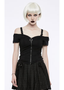Punk Rave Rosabel Zip Front Top - Kate's Clothing