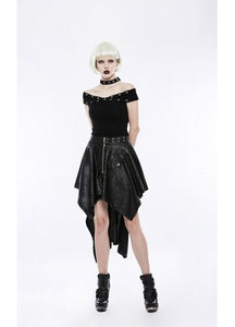 Punk Rave Vanessa Asymmetric Skirt - Kate's Clothing