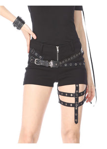 Dark In Love Thigh Strap Shorts