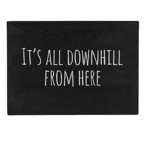 Pechkeks Doormat - It's All Downhill From Here - Kate's Clothing
