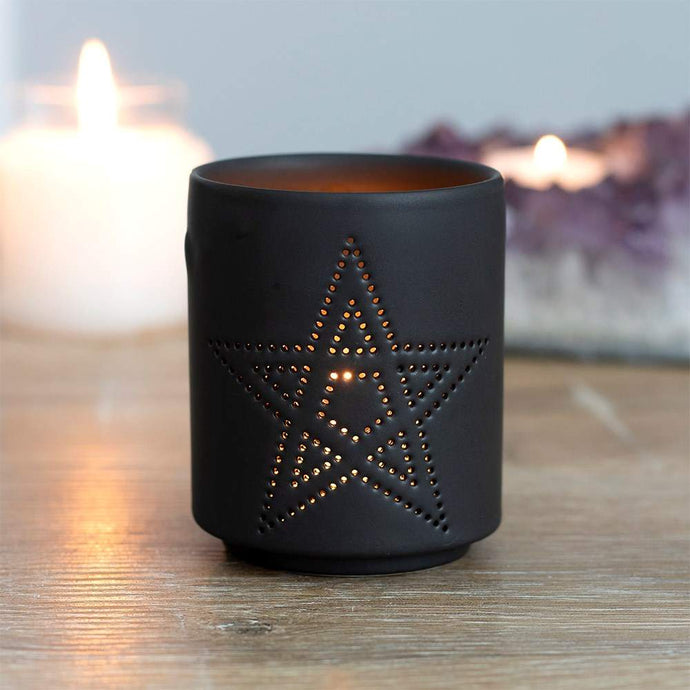 Gothic Gifts Pentagram Tealight Holder - Kate's Clothing