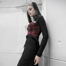 Load image into Gallery viewer, Punk Rave Plus Size Arella Tartan Crop Top - Kate's Clothing