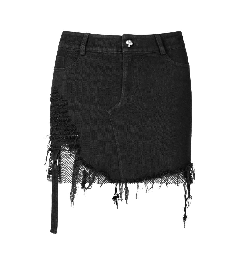 Punk Rave Selena Denim Skirt - Kate's Clothing