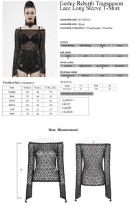 Punk Rave Bethra Bardot Lace Top - Kate's Clothing