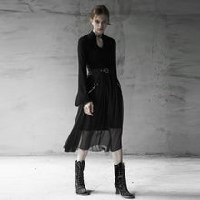 Load image into Gallery viewer, Punk Rave Elsbeth Midi Skirt with Integral Belt Chains - Kate's Clothing