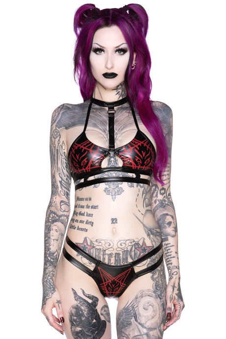 Killstar Raise Hell Cage Bralet - Kate's Clothing