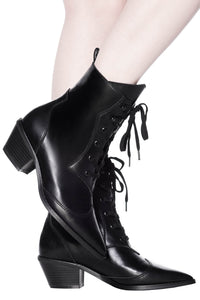 Killstar Raven Pointed-Toe Bootie - Kate's Clothing