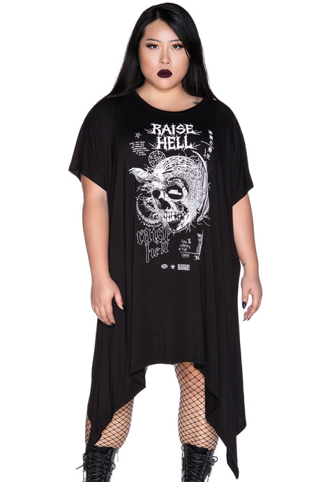 Killstar Rise Up Tunic Dress Plus Size - Kate's Clothing