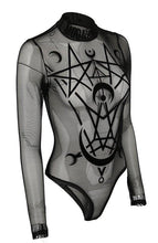 Load image into Gallery viewer, Restyle Moon Child Mesh Bodysuit - Kate's Clothing