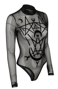 Restyle Moon Child Mesh Bodysuit - Kate's Clothing