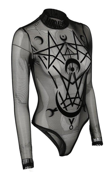 Restyle Moon Child Plus Size Mesh Bodysuit