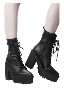 Killstar Salem City Faux Leather Boots - Kate's Clothing