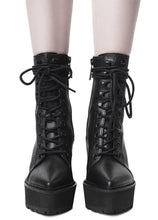 Load image into Gallery viewer, Killstar Salem City Faux Leather Boots - Kate's Clothing