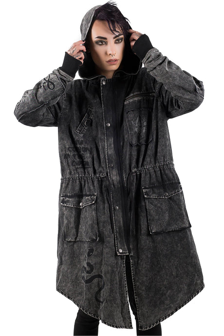 Killstar Serpents Parka Jacket - Kate's Clothing