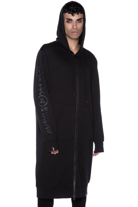 Killstar Shapeshifter Long Hoodie Mens - Kate's Clothing