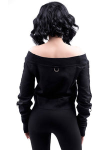 Killstar She Shreds Bardot Top - Kate's Clothing