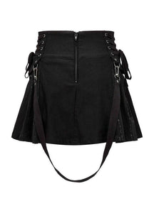Killstar Sinister Scouts Mini Skirt - Kate's Clothing