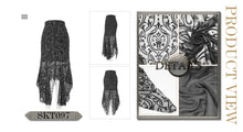 Load image into Gallery viewer, Devil Fashion Velvet Embossed Baroque Skirt - Kate's Clothing