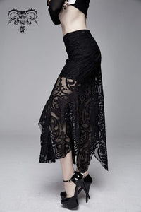 Devil Fashion Velvet Embossed Baroque Skirt - Kate's Clothing