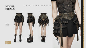 Devil Fashion Plus Size Steampunk Mini Skirt - Kate's Clothing