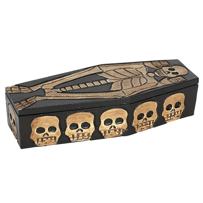Gothic Gifts Wooden Skeleton Storage Box