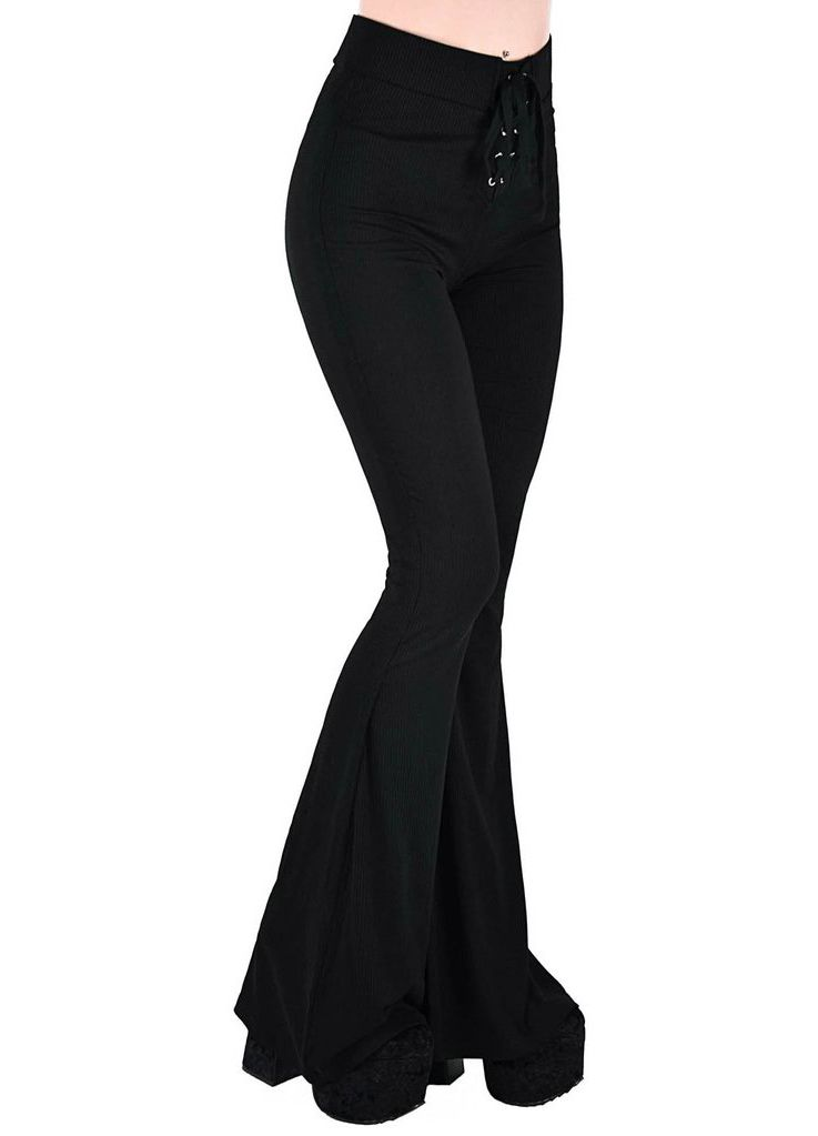 Killstar Slo-Burn Bell Bottoms - Kate's Clothing