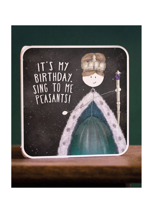 Lanther Black Birthday Queen Card - Kate's Clothing