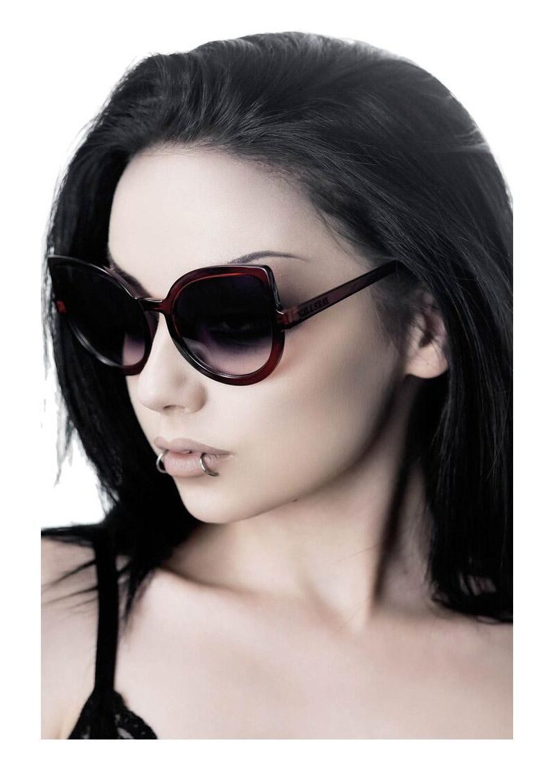 Killstar Space Kitty Cherry Red Sunglasses - Kate's Clothing