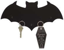 Load image into Gallery viewer, Sourpuss Black Bat Key Holder - Kate's Clothing