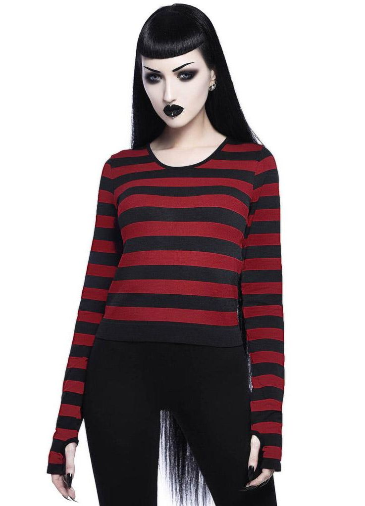 Killstar Stacy Blood Red Layering Top - Kate's Clothing