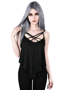Killstar Stardust Strappy Vest - Kate's Clothing