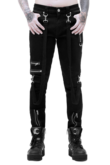 Killstar Mens Steele Bondage Pants - Kate's Clothing