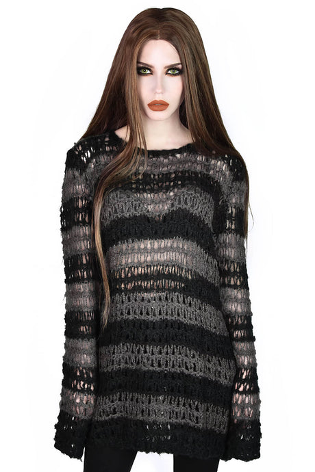 Killstar Strange Daze Mohair Sweater - Kate's Clothing