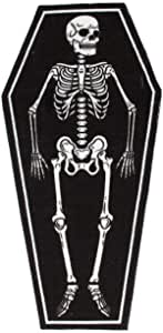 Sourpuss Coffin Shaped Skeleton Rug - Kate's Clothing