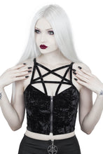 Load image into Gallery viewer, Killstar Lost In Sin Zip Top - Kate's Clothing
